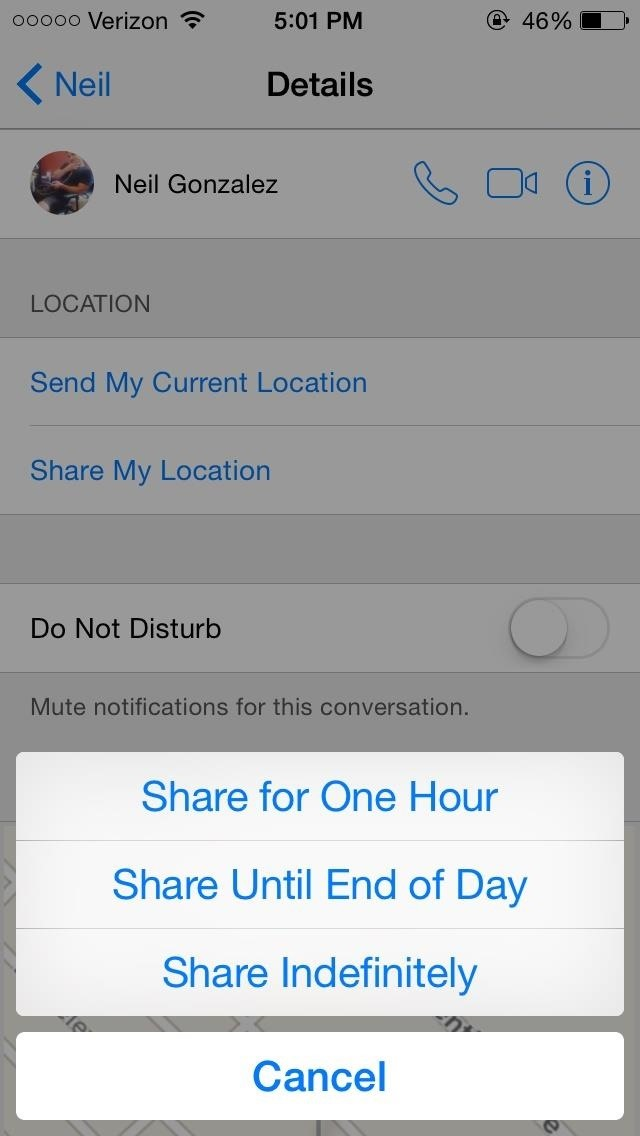 How to Send & Share Your iPhone's Current Location in iOS 8