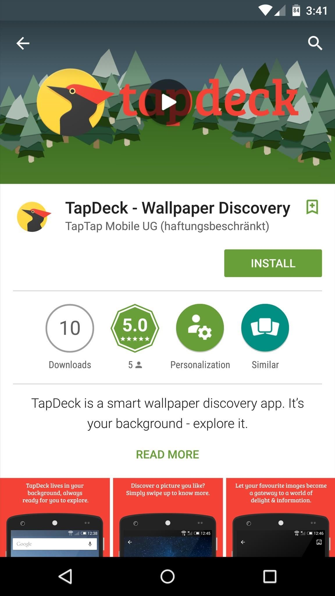 TapDeck Is a Beautiful Live Wallpaper That Adapts to Your Taste in Photography