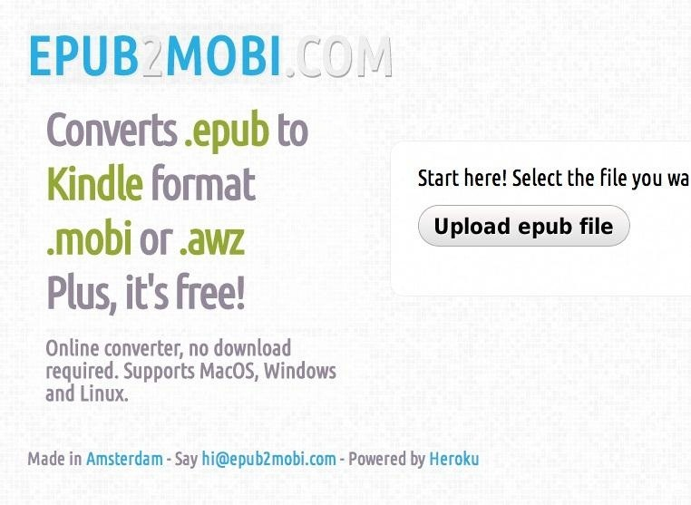 How to Convert EPUB Files to MOBI Format (for Kindle)