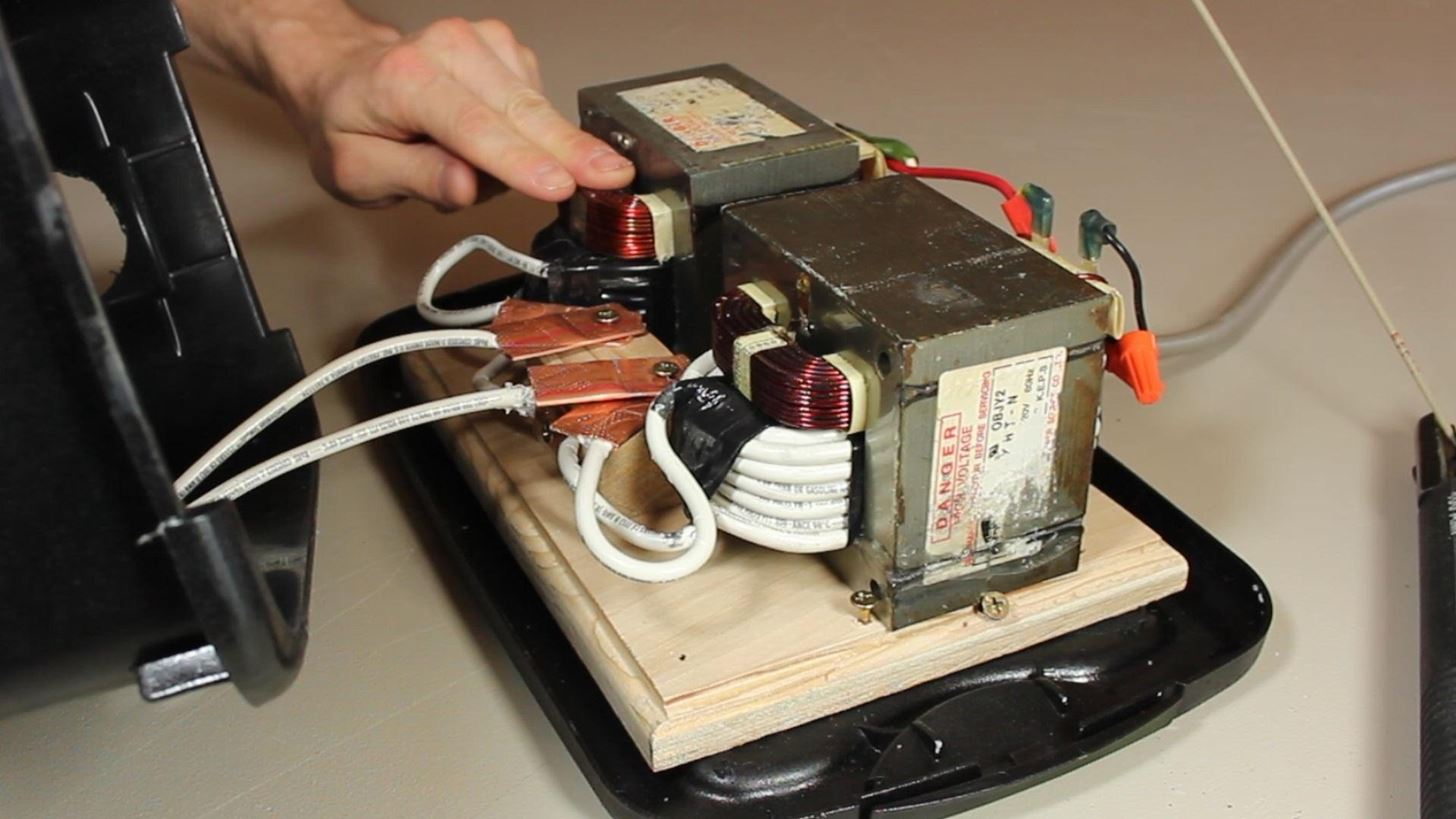 DIY Stick Welder from Old Microwave Parts