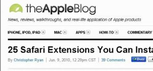 Install and use browser extensions in Safari 5