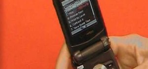 Text message on a Casio G'zOne Rock