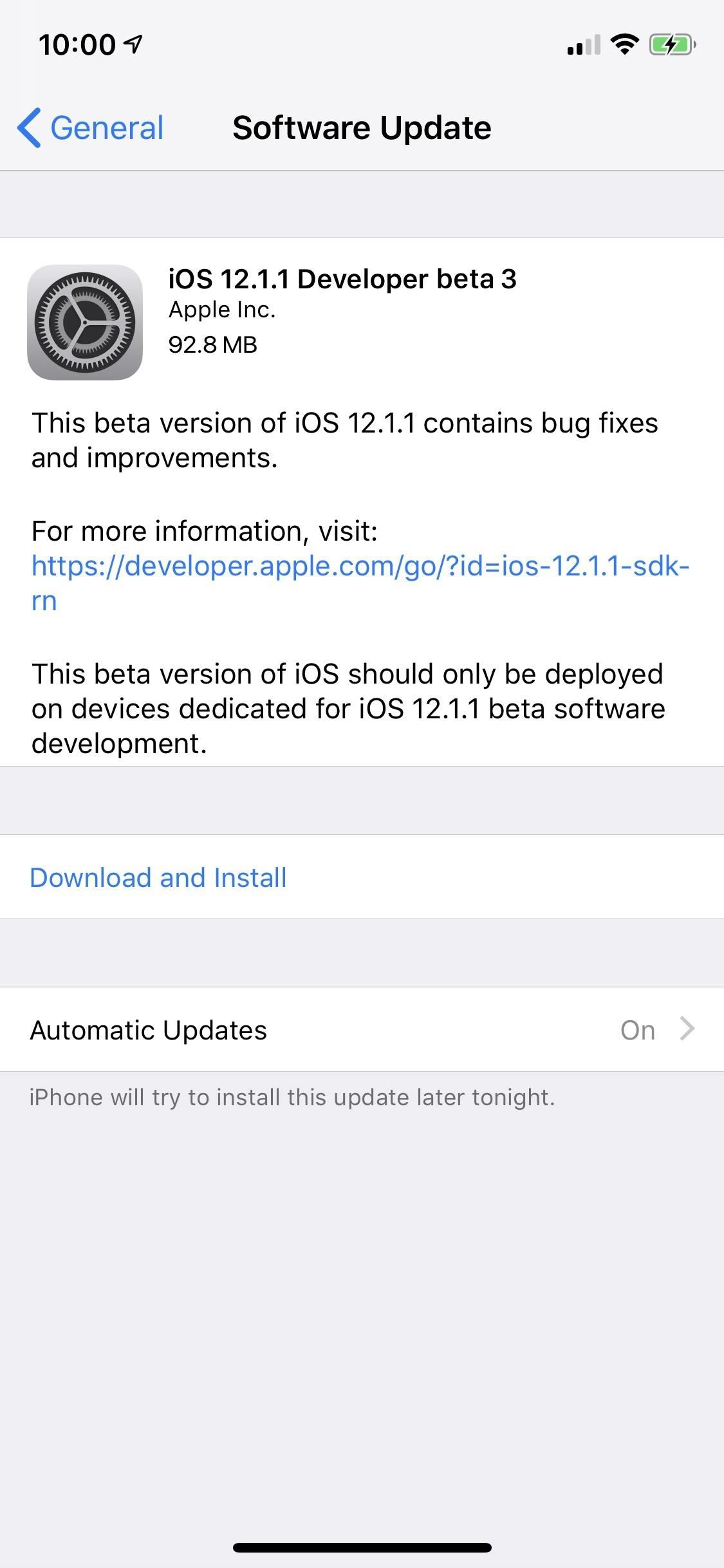 Apple Just Released iOS 12.1.1 Developer Beta 3 to Testers