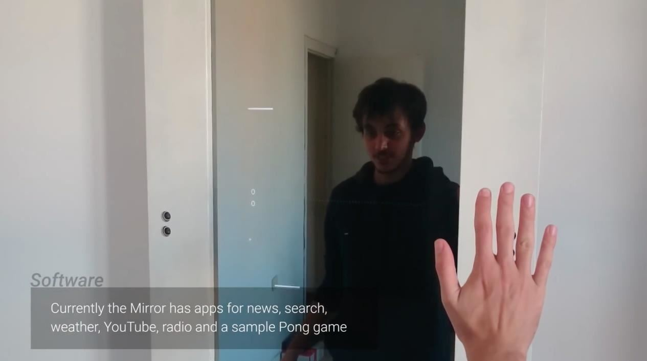 This Guy Built an Impressive Smart Mirror Controlled by Gestures & Voice