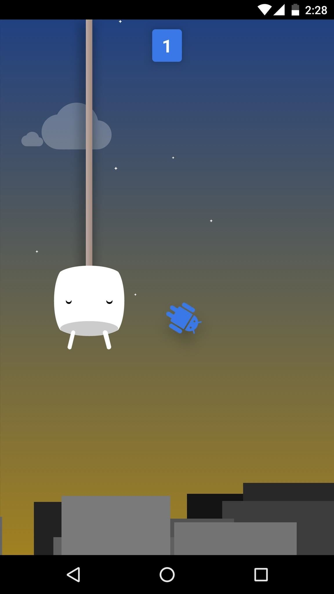 How to Cheat Android's Hidden Flappy Droid Game