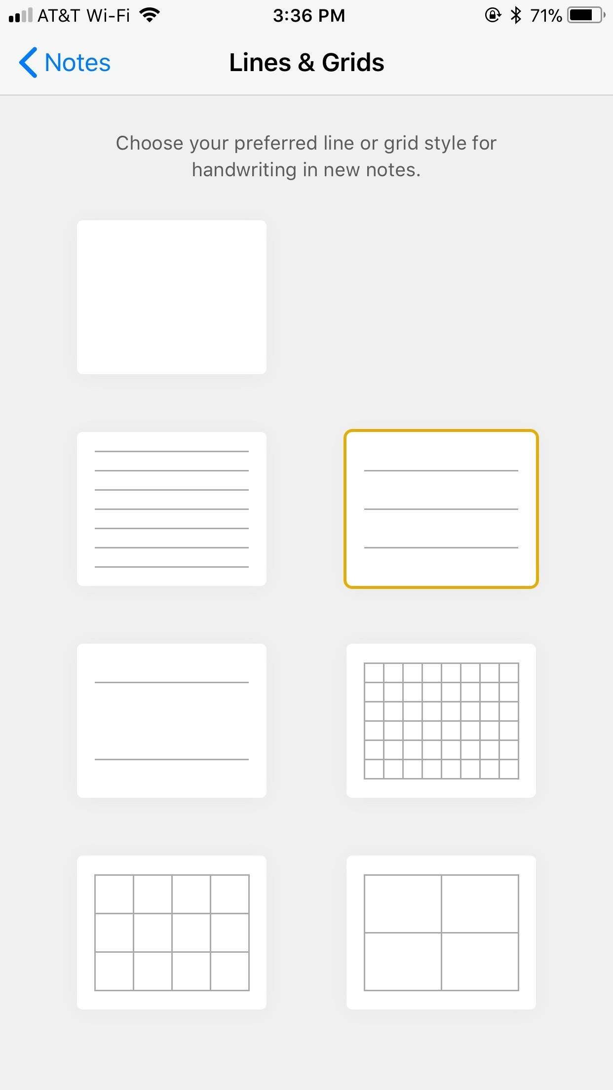 Notes 101: How to Customize Your Paper Style with Lines or Grids