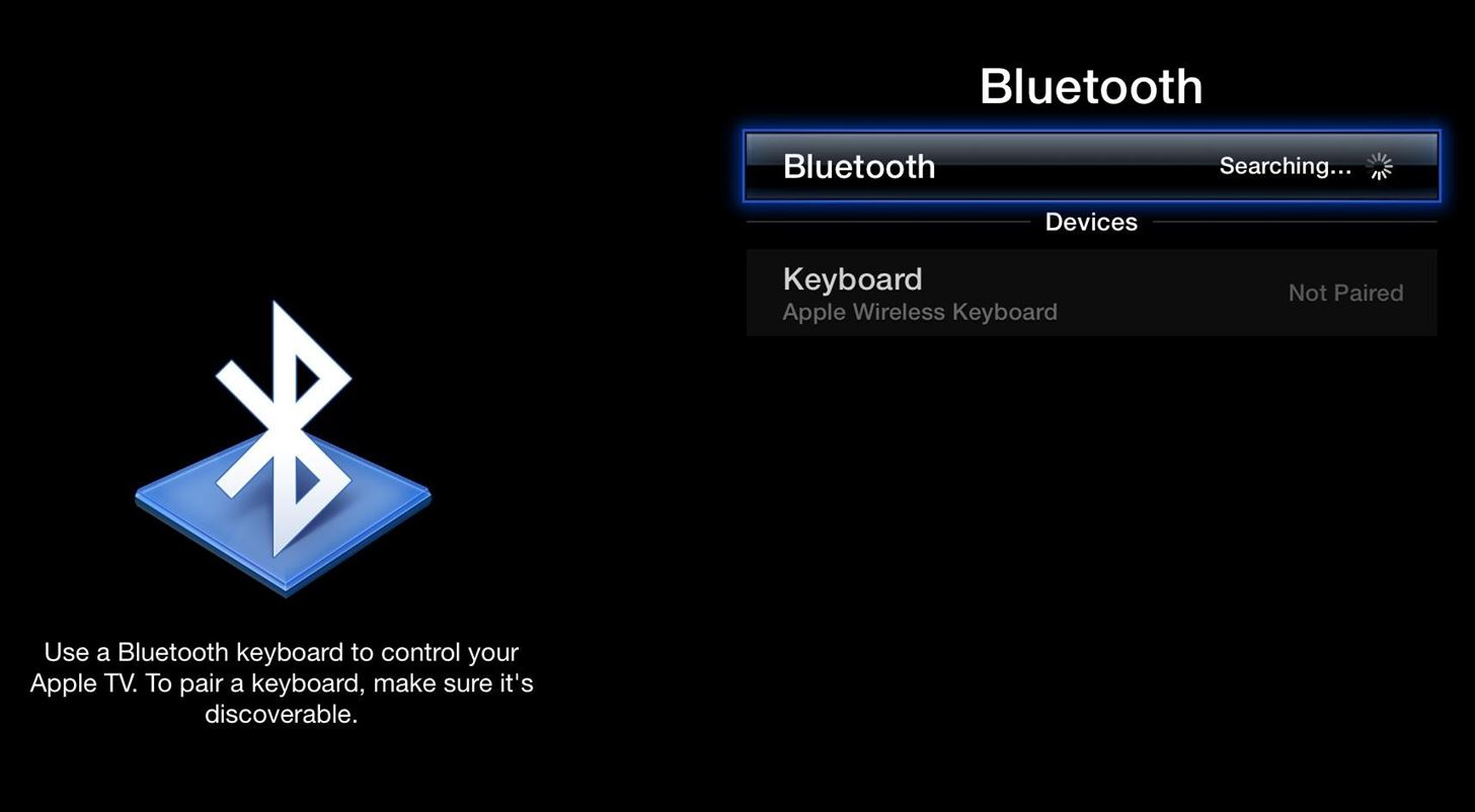 How to Turn Your Bluetooth Keyboard into an Apple TV Remote
