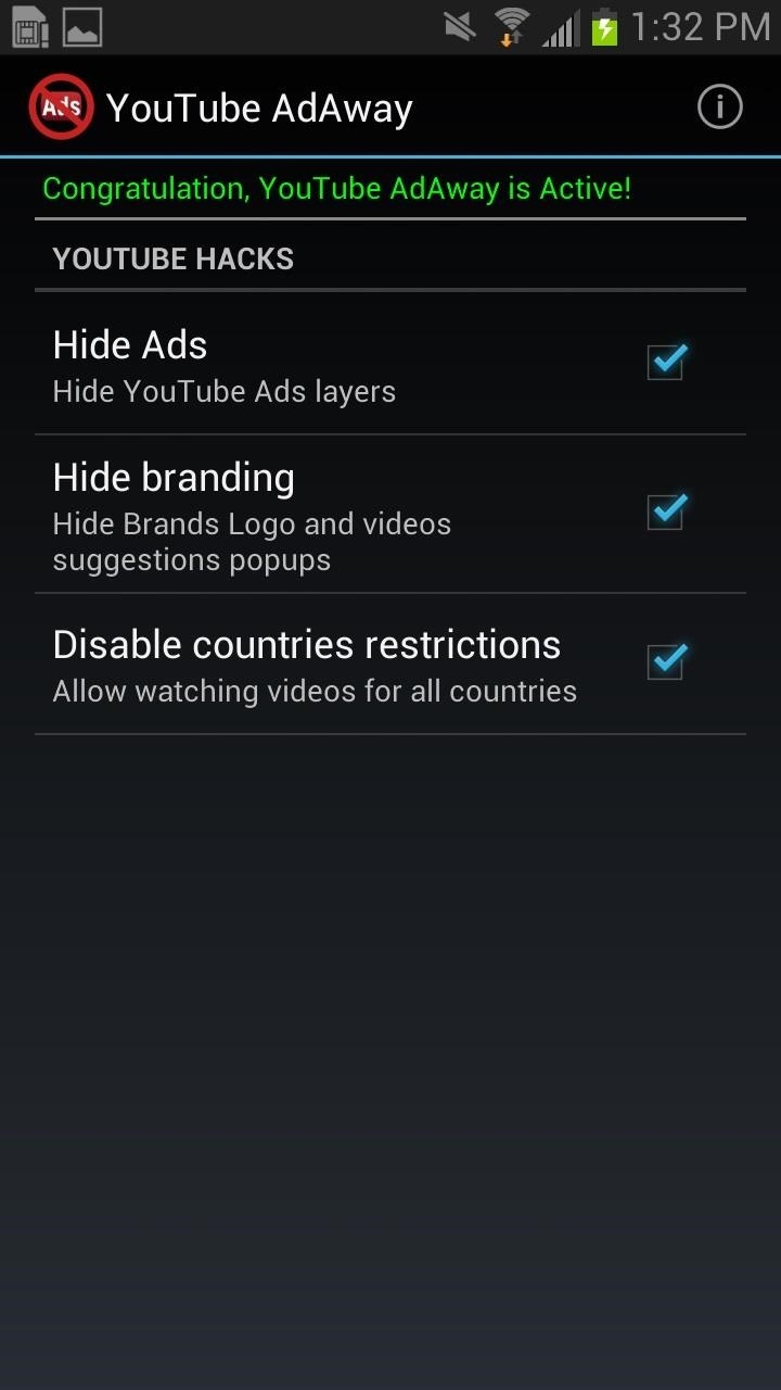 How to Remove Ads When Watching Videos in the YouTube App on Your Galaxy Note 2