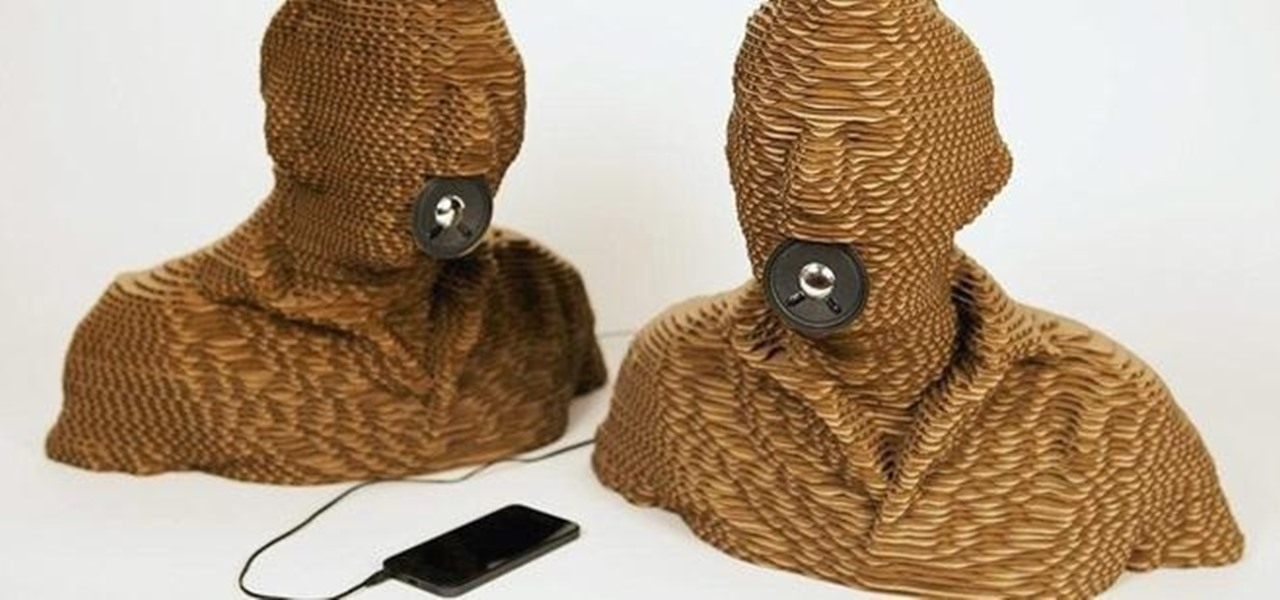 Turn Your Head into Narcissistic Cardboard Speakers