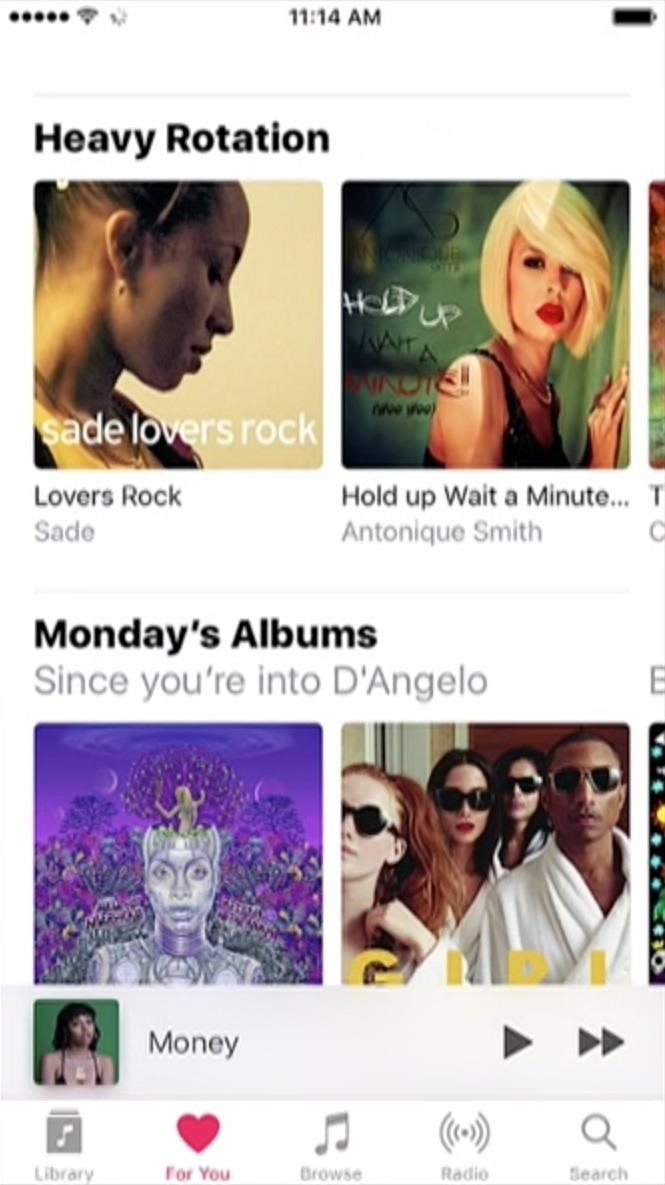 Apple Music Gets a Complete, More Intuitive Redesign in iOS 10