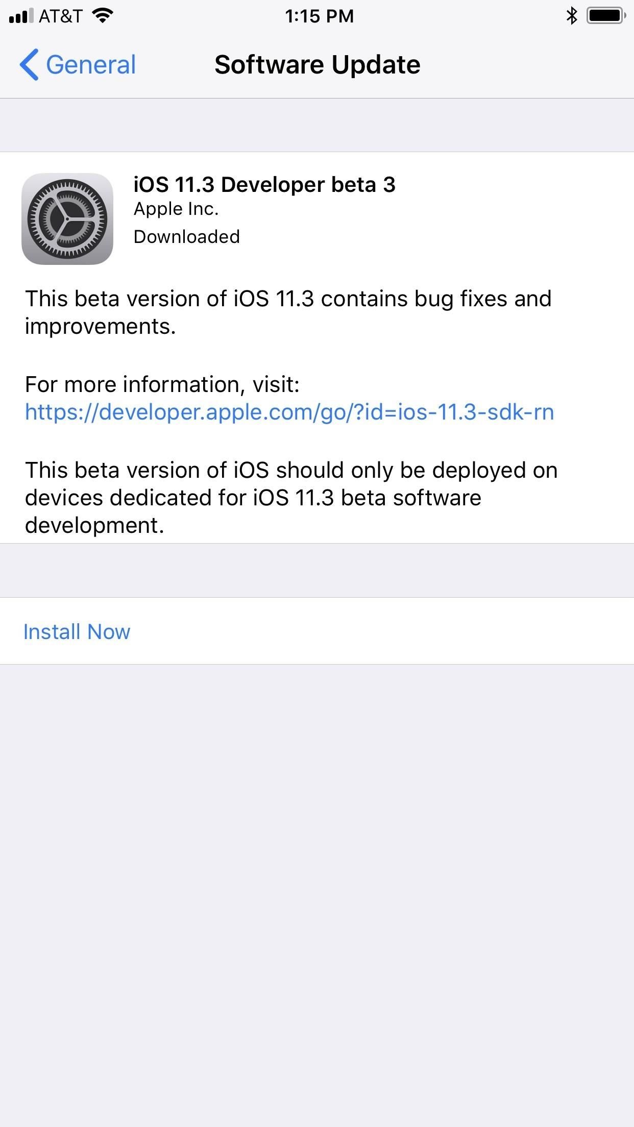 iOS 11.3 Beta 3 Released for iPhone with Mostly Under-the-Hood Improvements