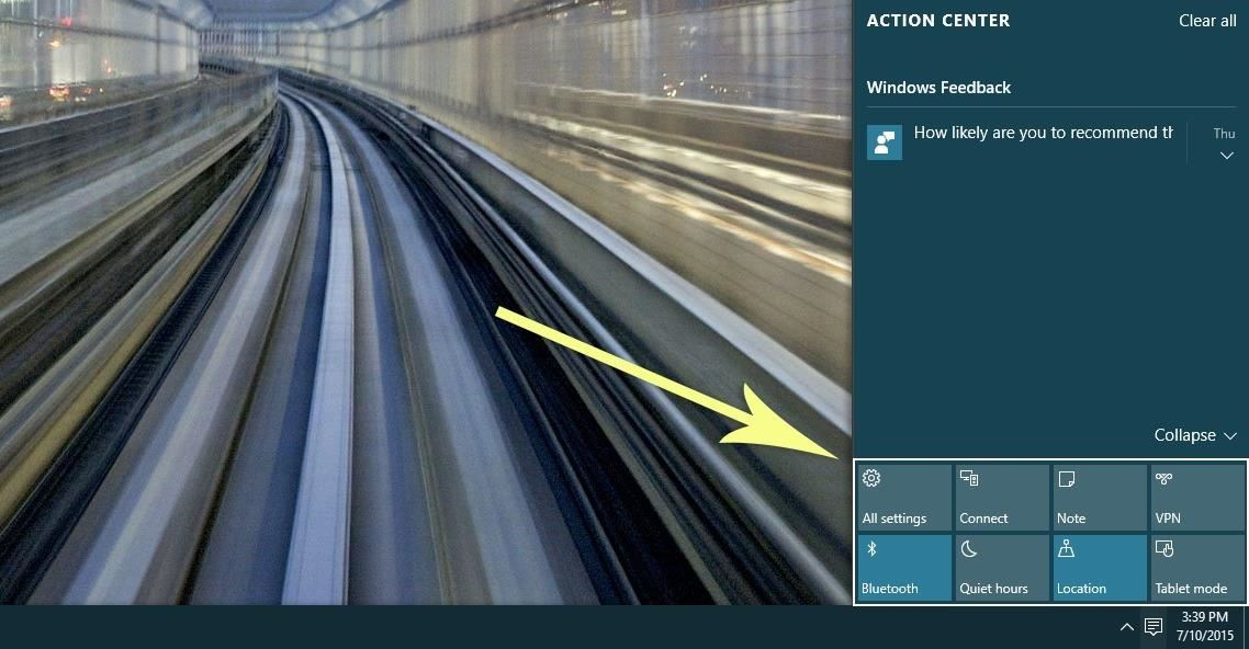 How to Use Quick Actions to Toggle Settings Easily in Windows 10