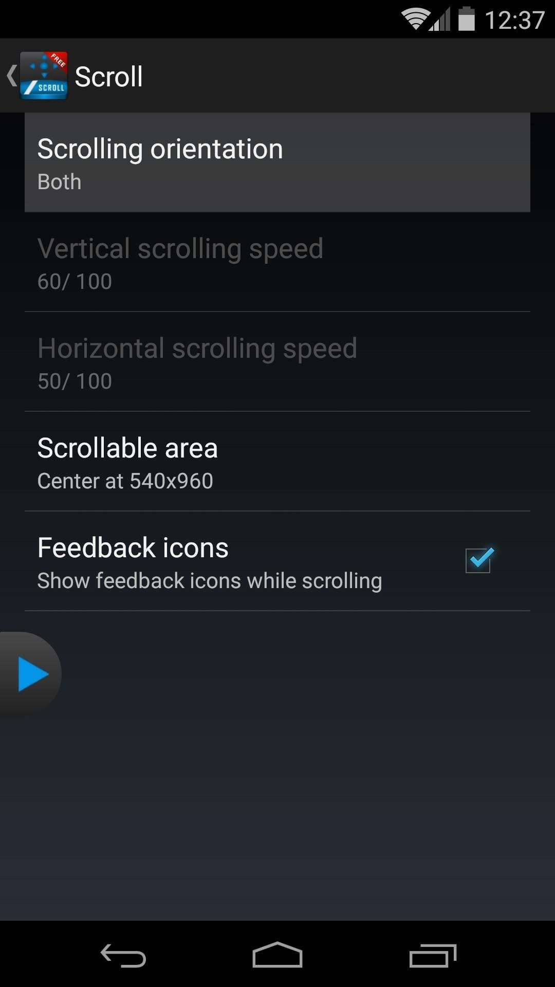 Add No-Touch Scrolling to Your Android
