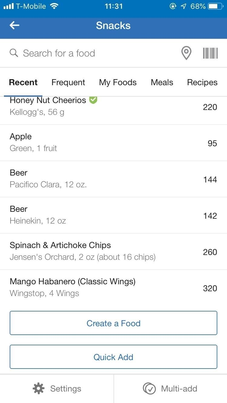 How to Quickly Add Calories to Snacks in MyFitnessPal to Make Them Responsible Every Tiny Bite