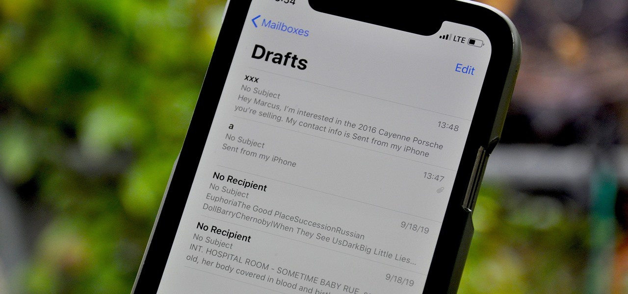 Open Previous Drafts Faster in Your iPhone's Mail App — From Any Mailbox or Folder