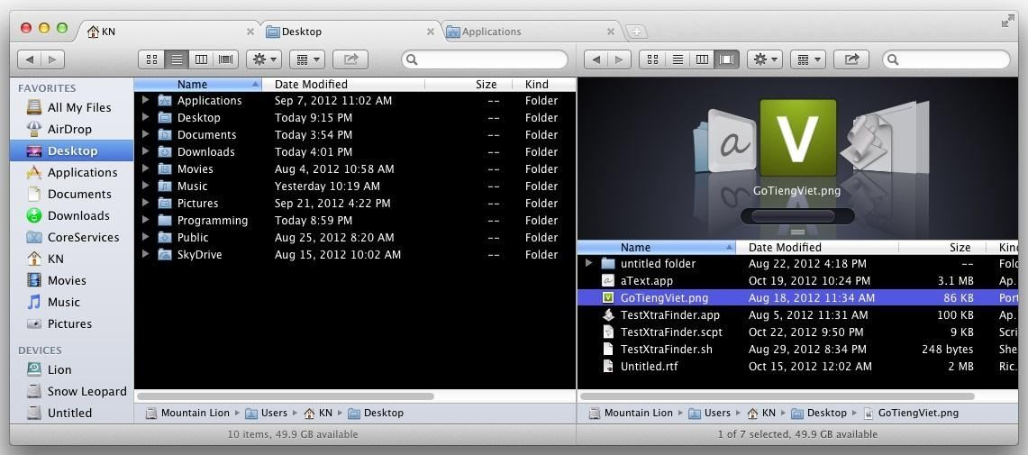 How to Add Tabs (And Other Cool Things) to Finder in Mac OS X