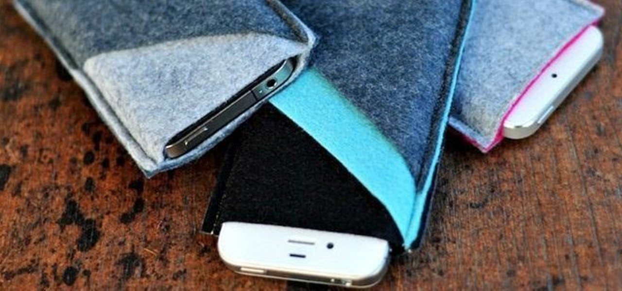 Make a Super Simple Wool Felt Sleeve for Your iPhone (Or Any Smartphone)