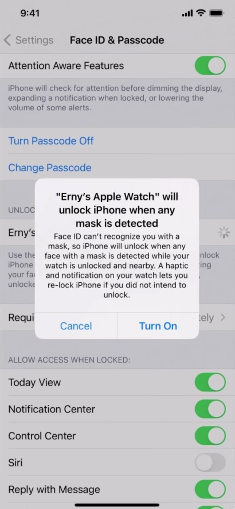 Unlocking Your iPhone While Wearing a Mask Just Got Way Easier