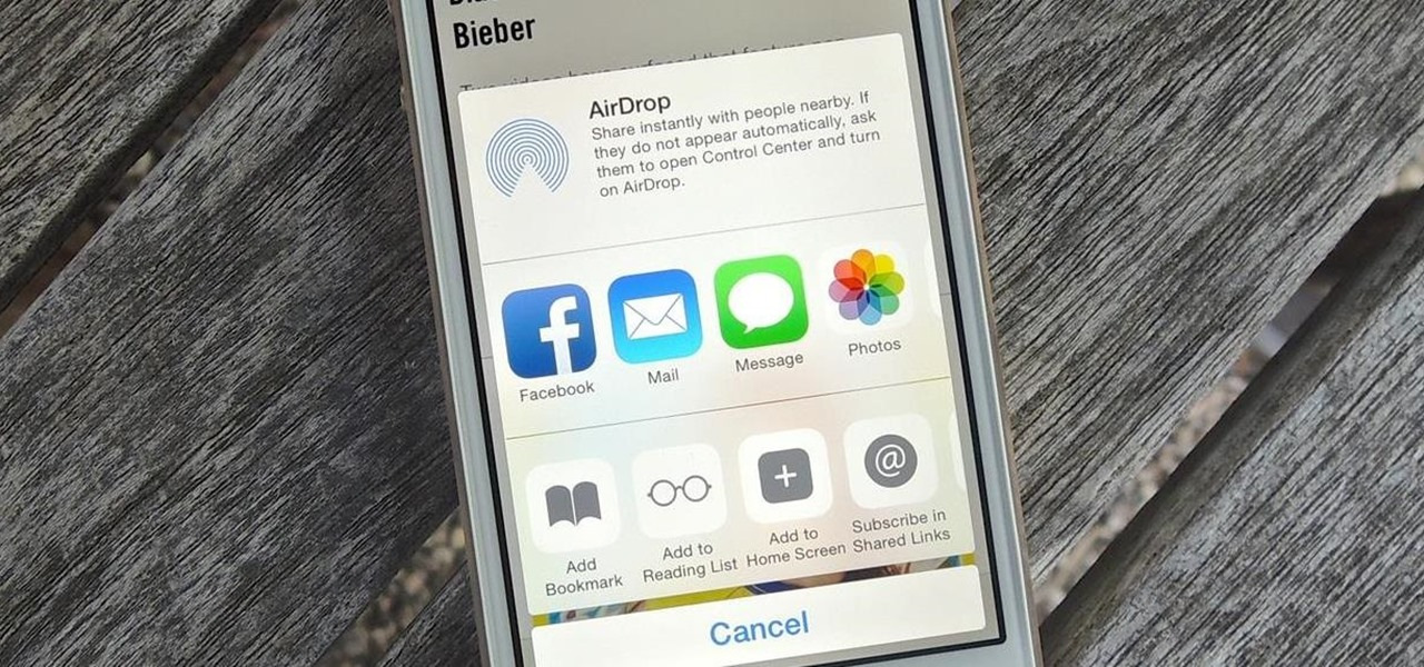 Add, Remove, & Reorder Share Options on Your iPhone (iOS 8)