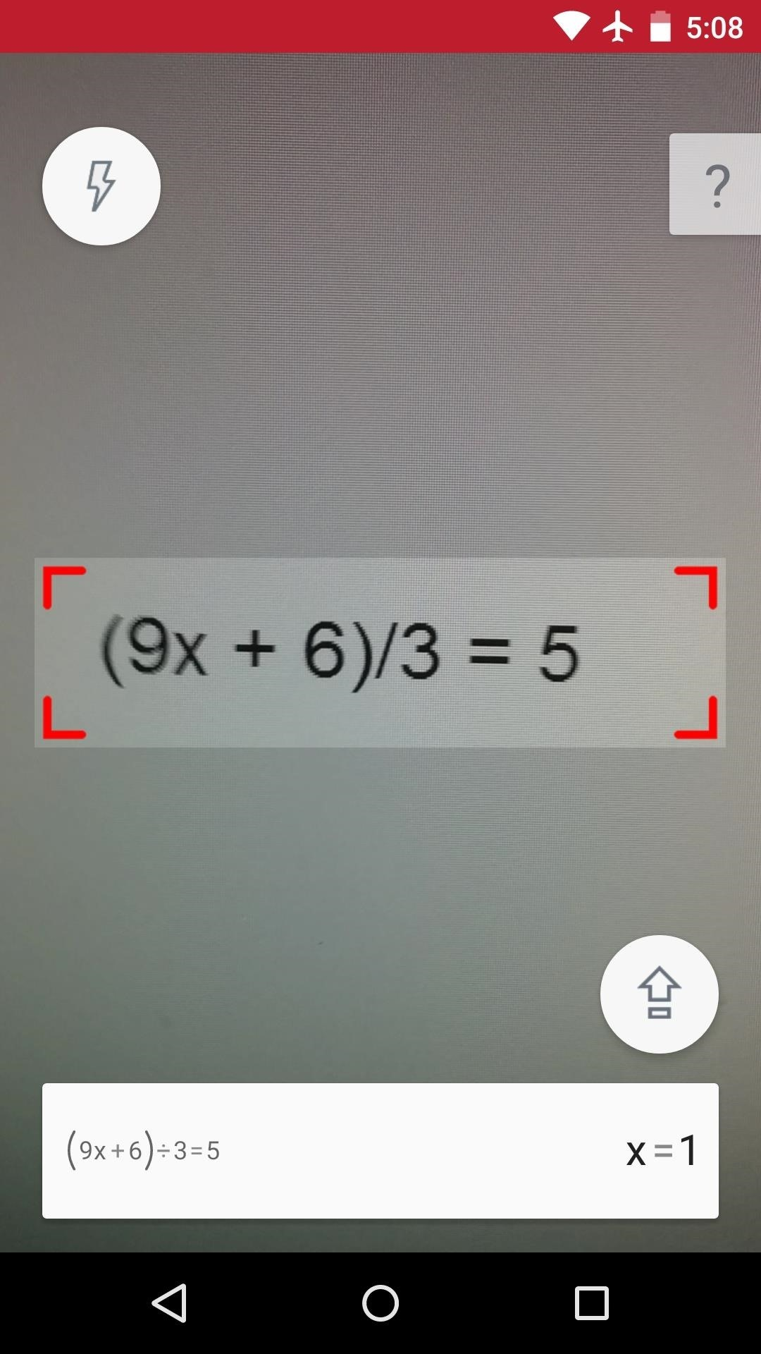 PhotoMath for Android Lets You Solve Difficult Math Problems with Your Camera