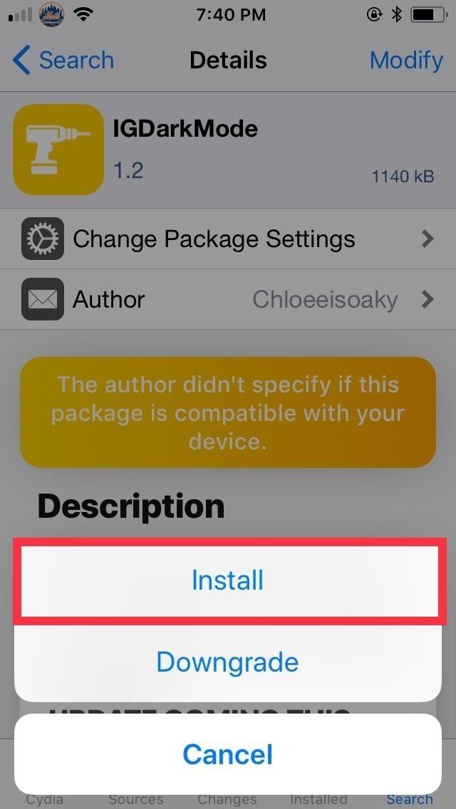 How to Get the Dark Mode on Instagram for the iPhone [Jailbreak Tweak]
