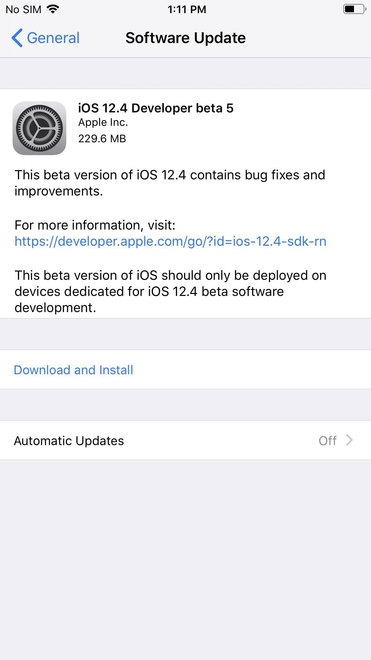 Apple released the fifth developer beta for iOS 12.4 for iPhone