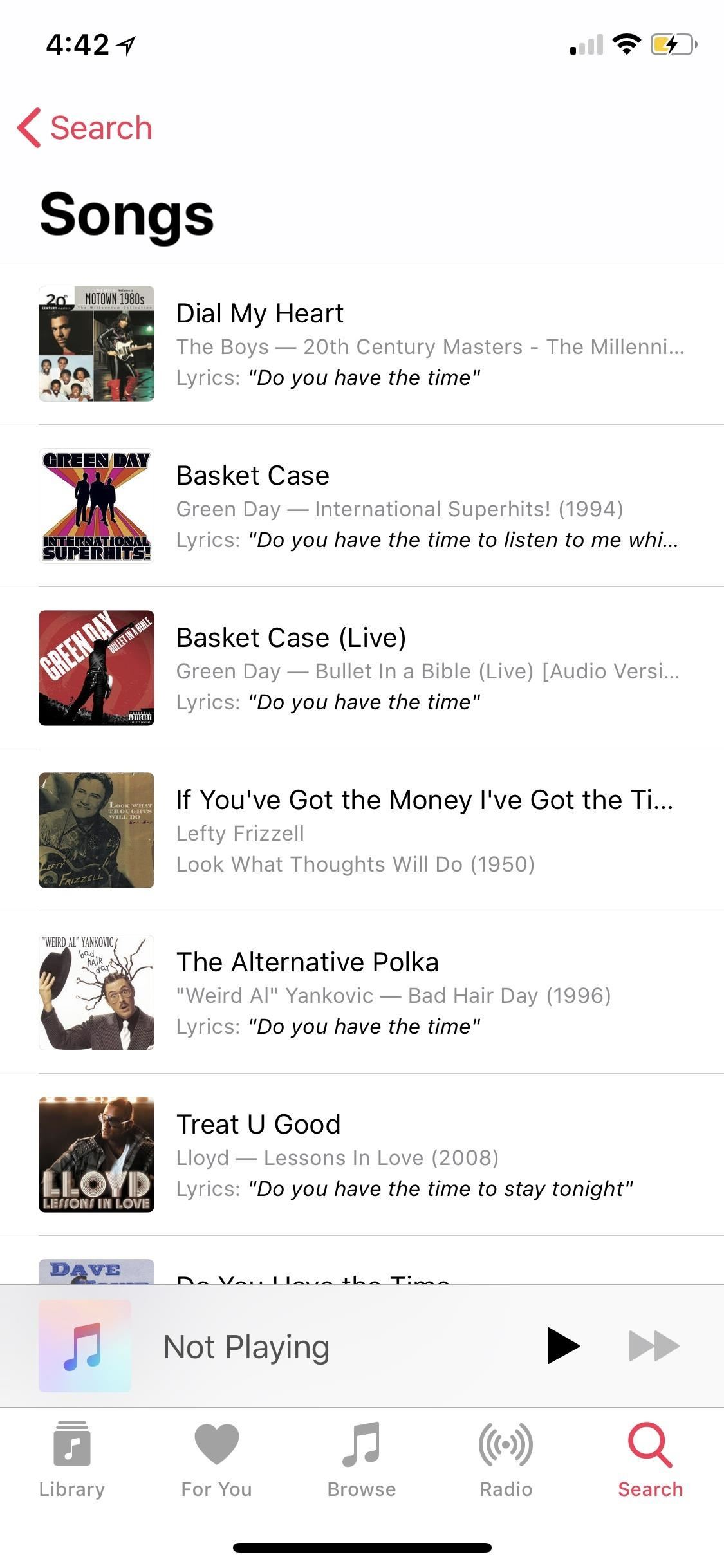 How to Find Songs by Lyrics in Apple Music for iOS 12 — With or Without a Subscription