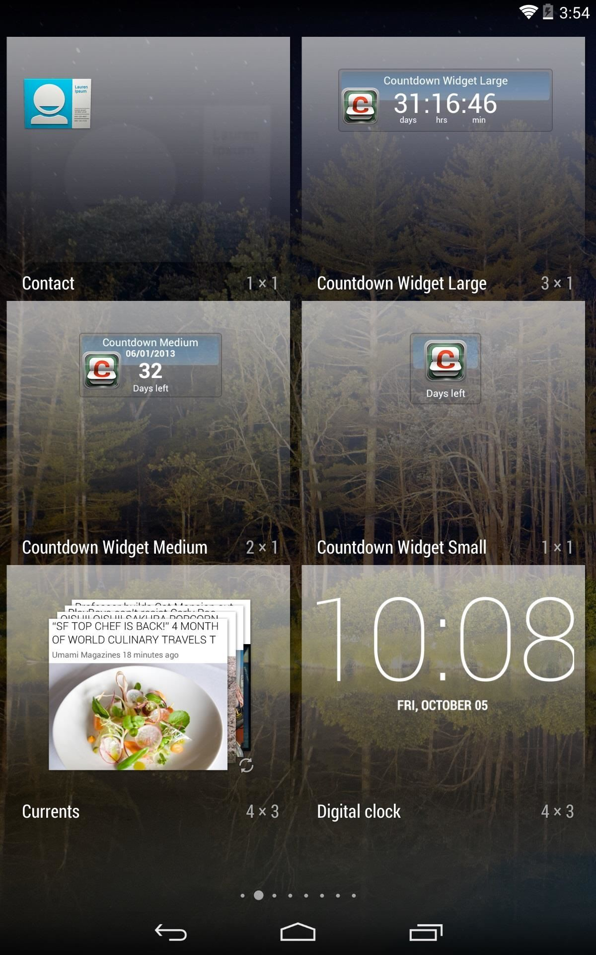Never Miss Important Dates Again with These Countdown Widgets & Apps for Your Nexus 7 Tablet