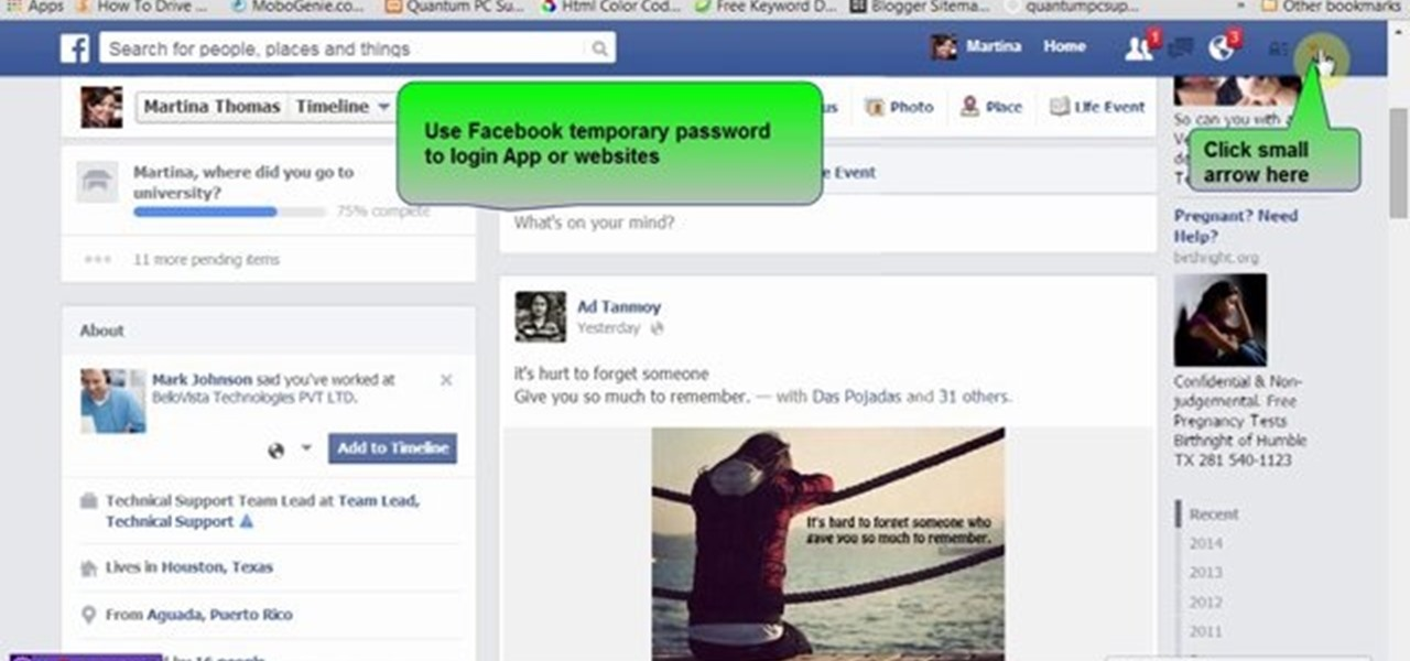 Use Facebook Temporary Password to Login App or Websites