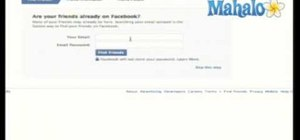 Use an email address to find someone on Facebook