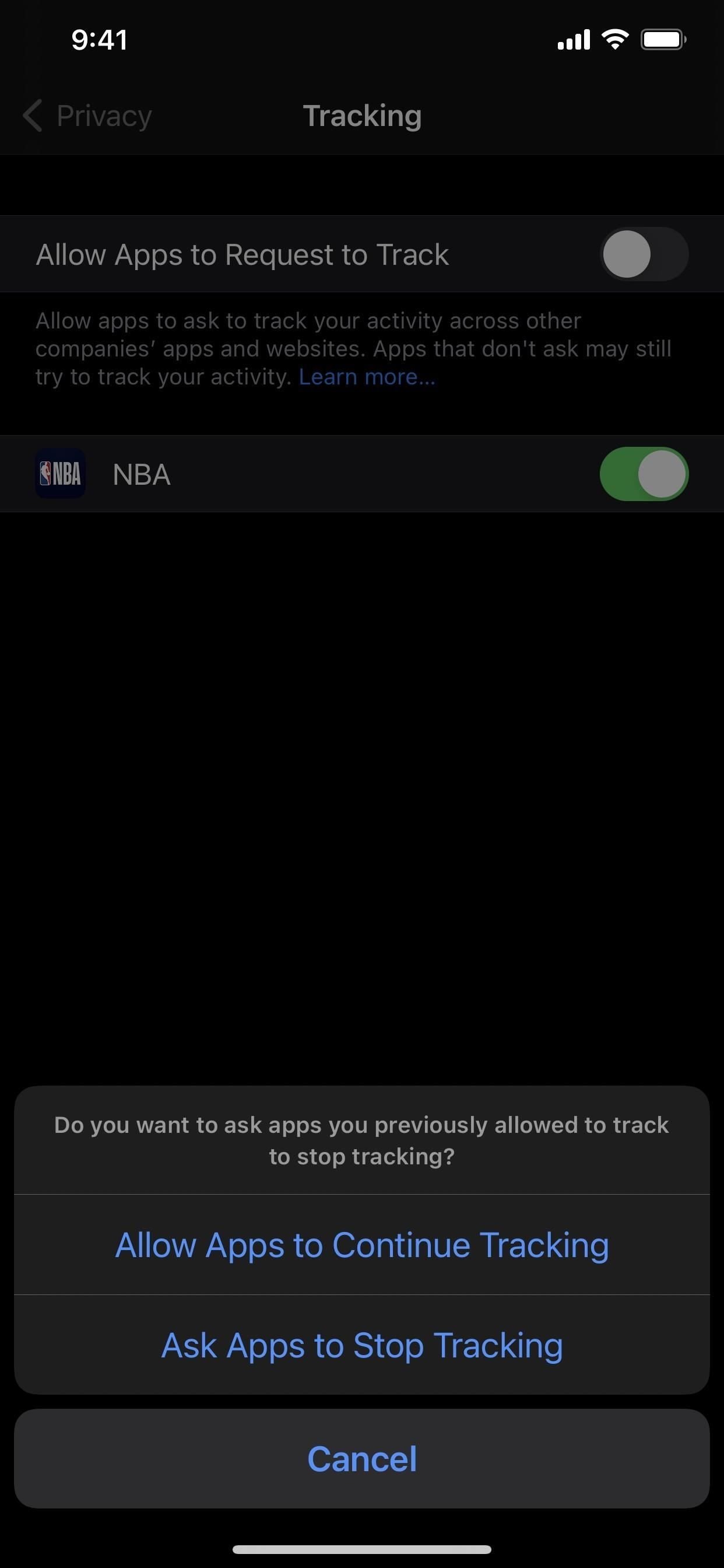 How to stop apps from asking to track your iPhone activity in other apps and websites