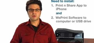 Print documents wirelessly with iPhone or iPod Touch