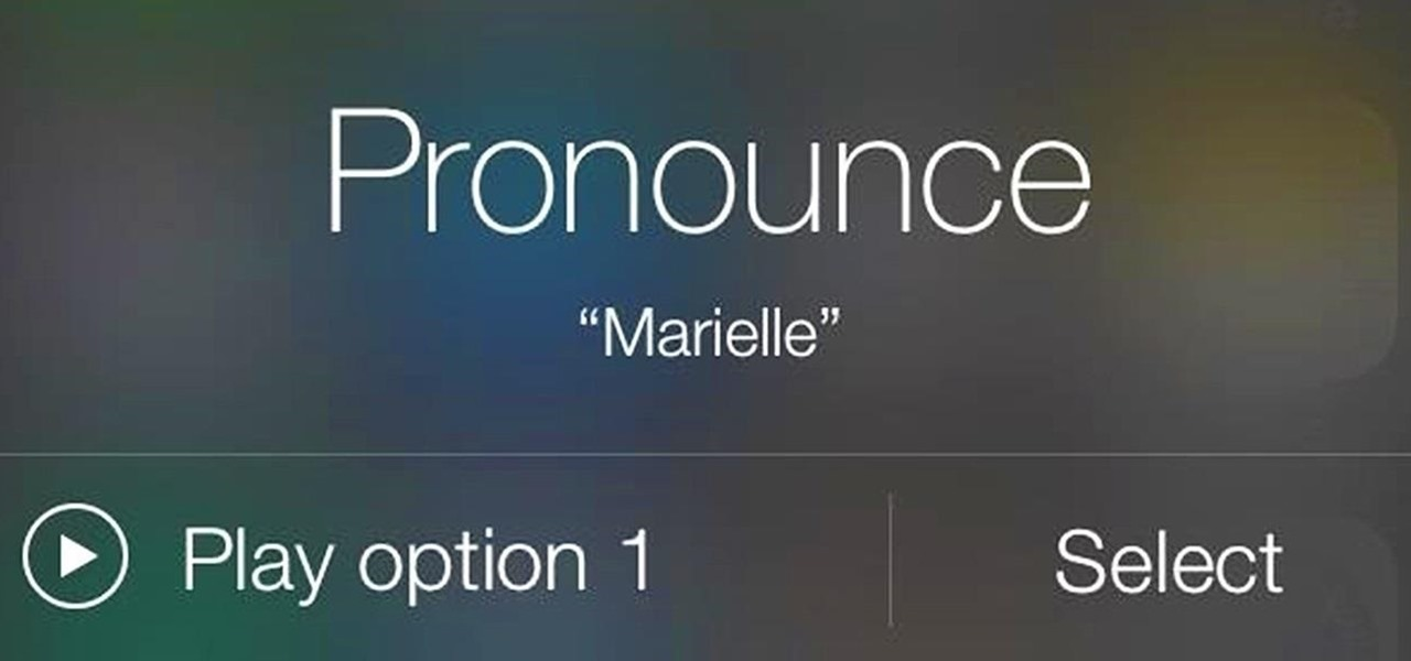 Make Siri Pronounce Names the Correct Way on Your iPhone Running iOS 7