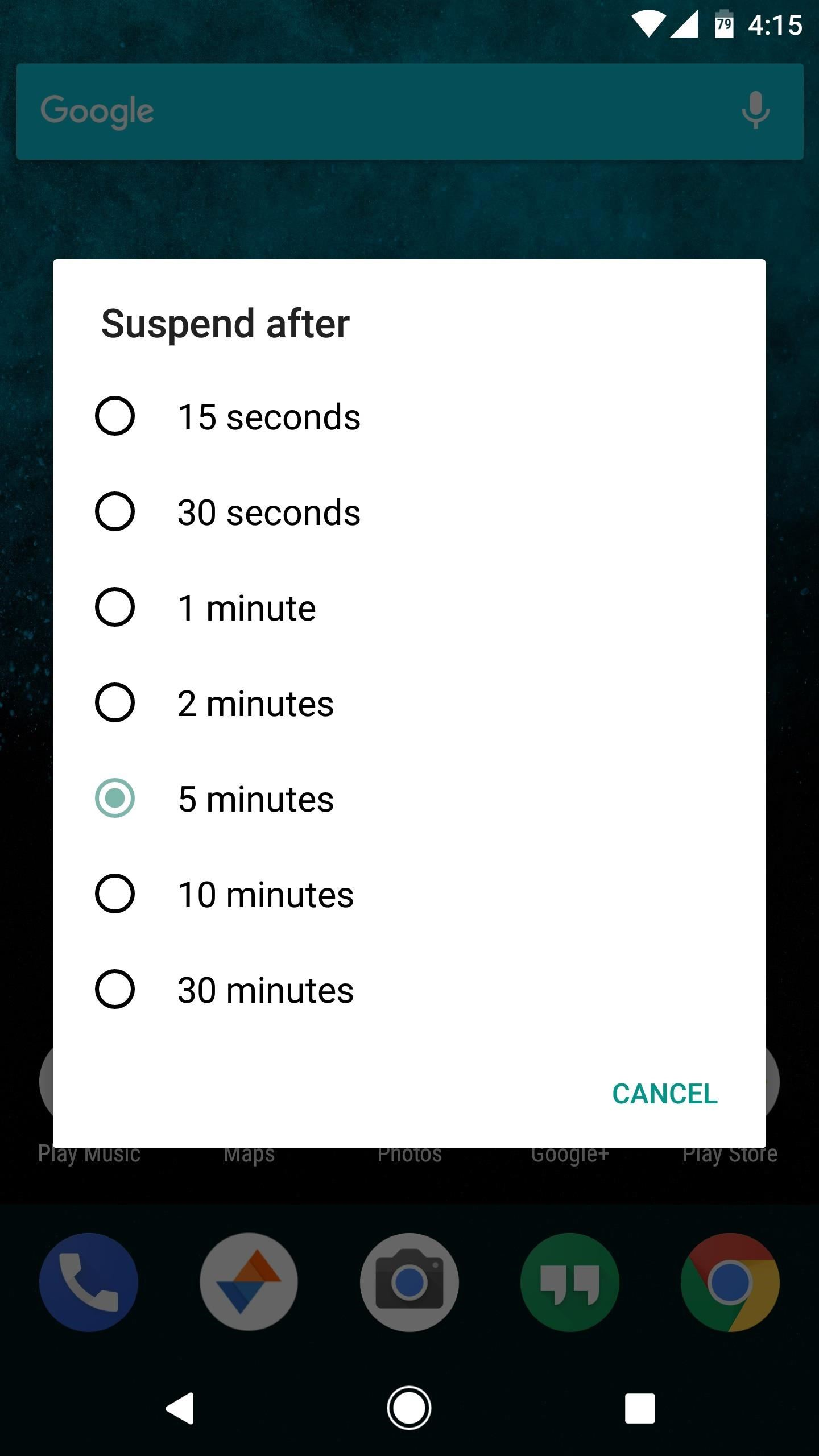Add a Screen Timeout Tile to Android Nougat's Quick Settings Panel