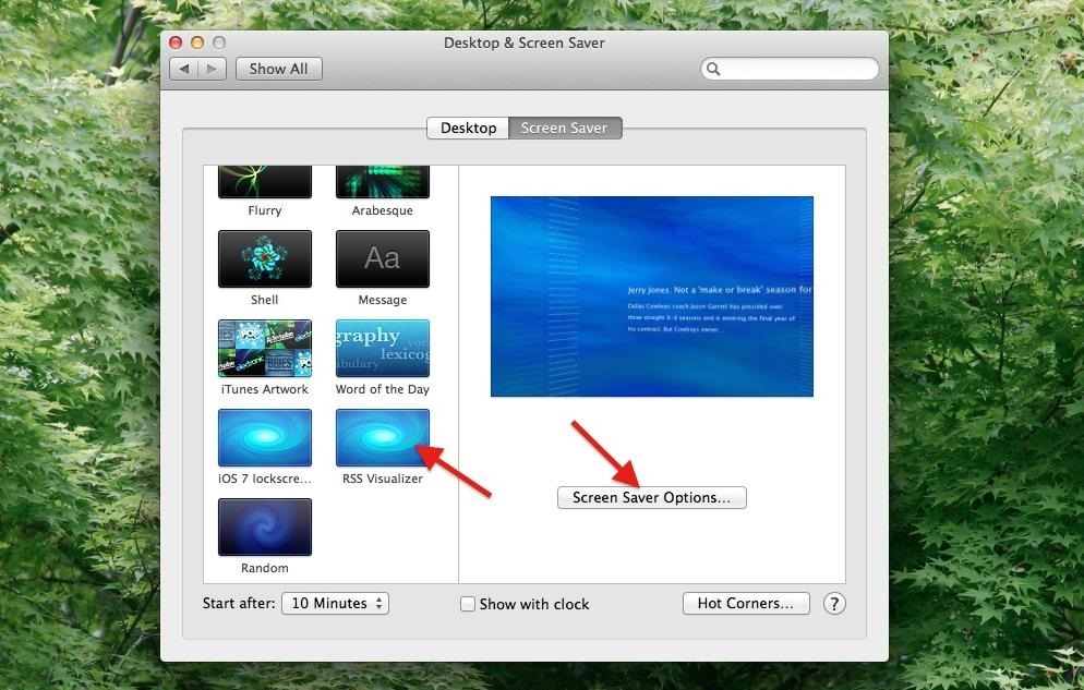 How to Get Apple's RSS Visualizer Back as a Screensaver in