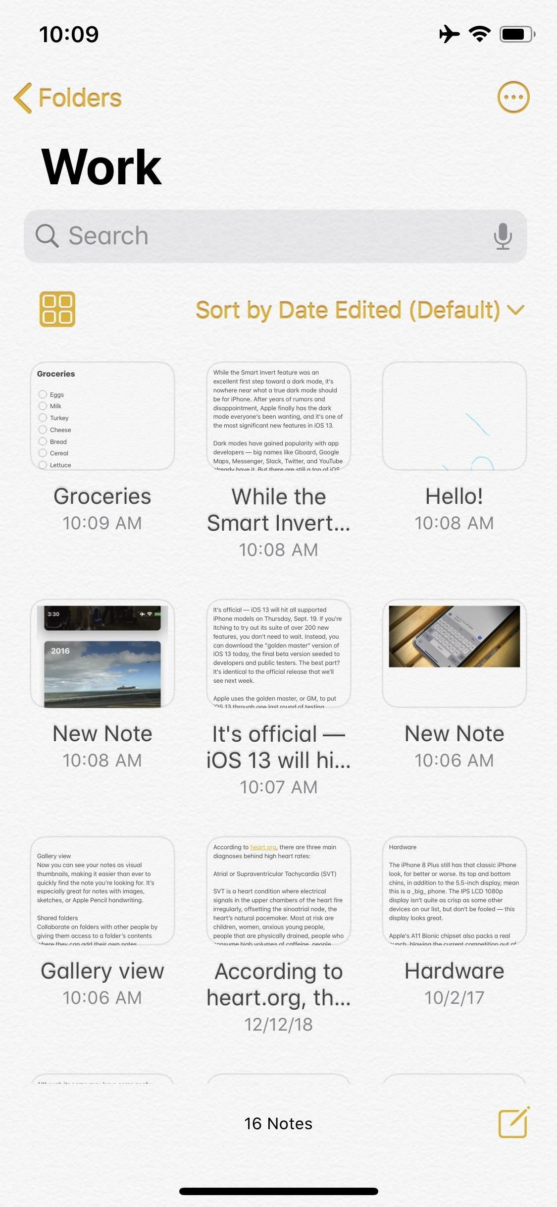 The iOS 13 Notes app contains 15 new features and changes