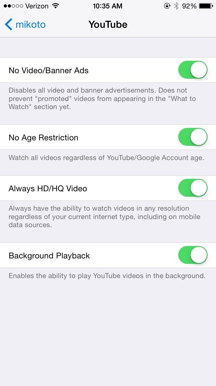 Mikoto Gives Your iPhone YouTube Background Music, Contact Photos in Messages, & More