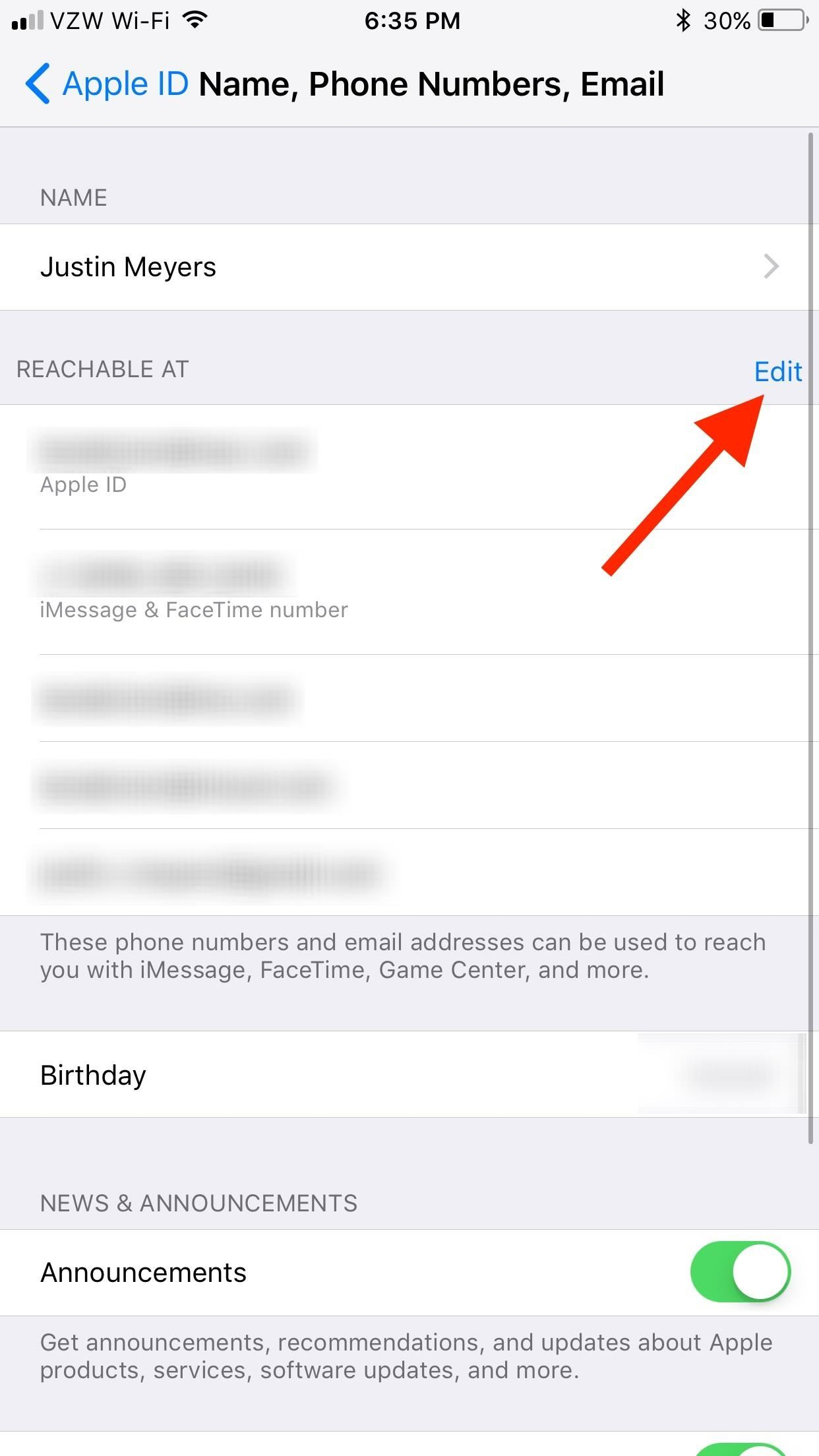 How to Add or Remove Email Addresses to Be Reached At for FaceTime on Your iPhone
