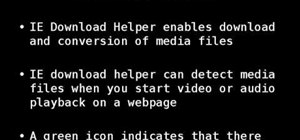Download and convert video with IE DownloadHelper