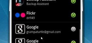 Manage sync settings on a Google Android smartphone