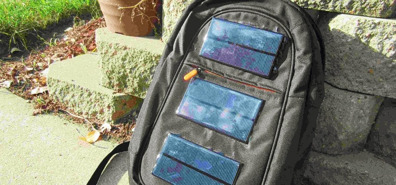 Turn Your Backpack into a Solar-Powered Gadget Charger