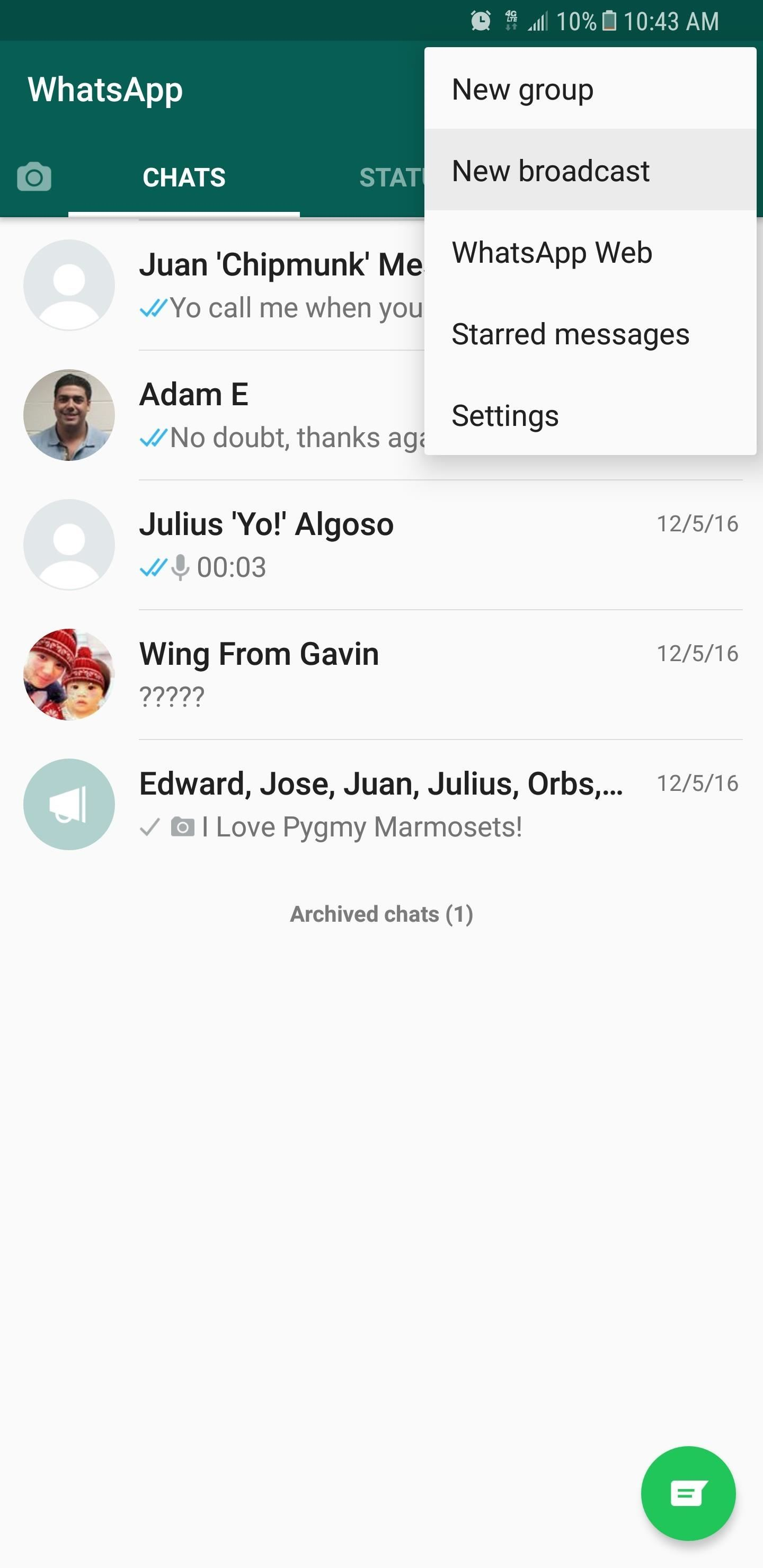 WhatsApp 101: How to Broadcast Messages to Multiple Contacts
