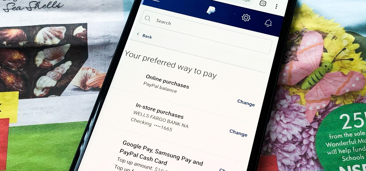 Change Online, In-Store, Google Pay, Samsung Pay & PayPal Cash Card Payment Preferences for PayPal