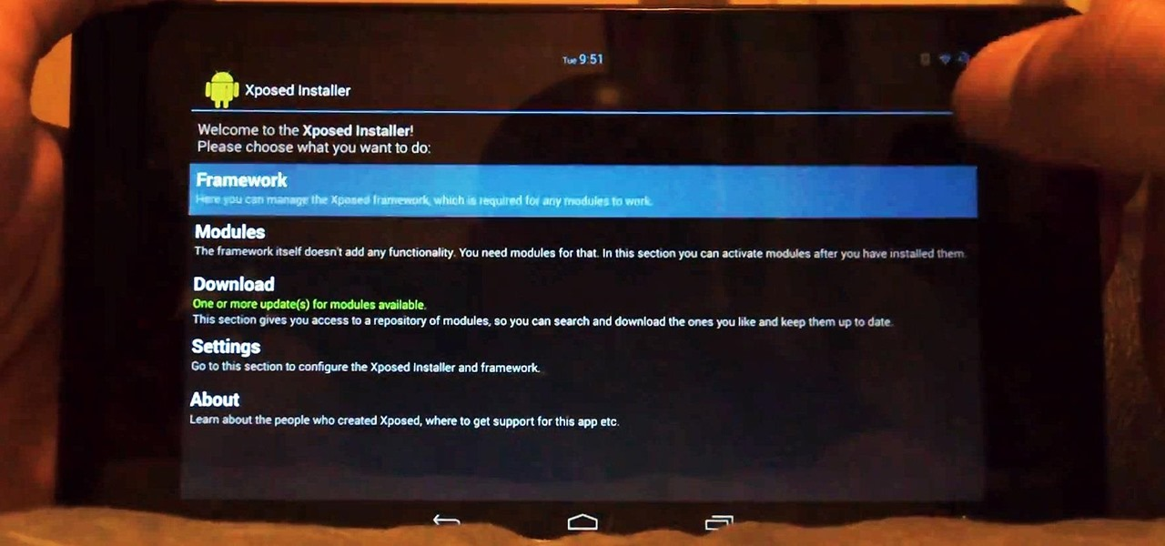 Install the Xposed Framework on Your Nexus 7 for Insane Customization