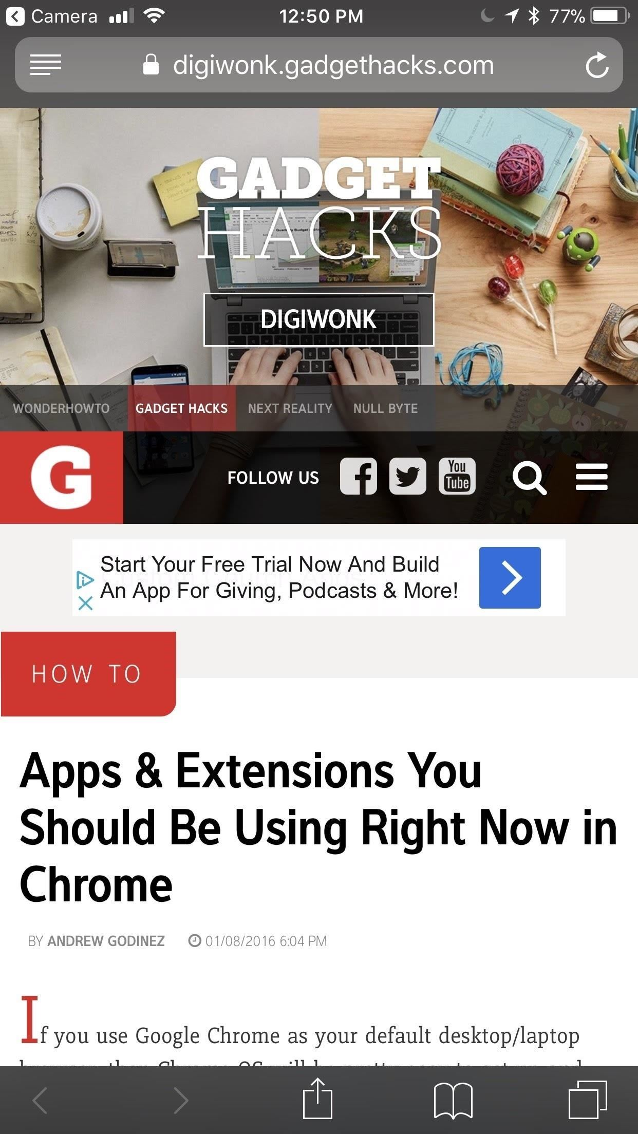 The Easy Way to Get Your Chrome Desktop Tabs in Your iPhone's Safari Browser