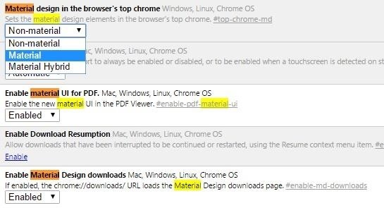 How to Enable Google's Material Design in Chrome's Desktop Browser