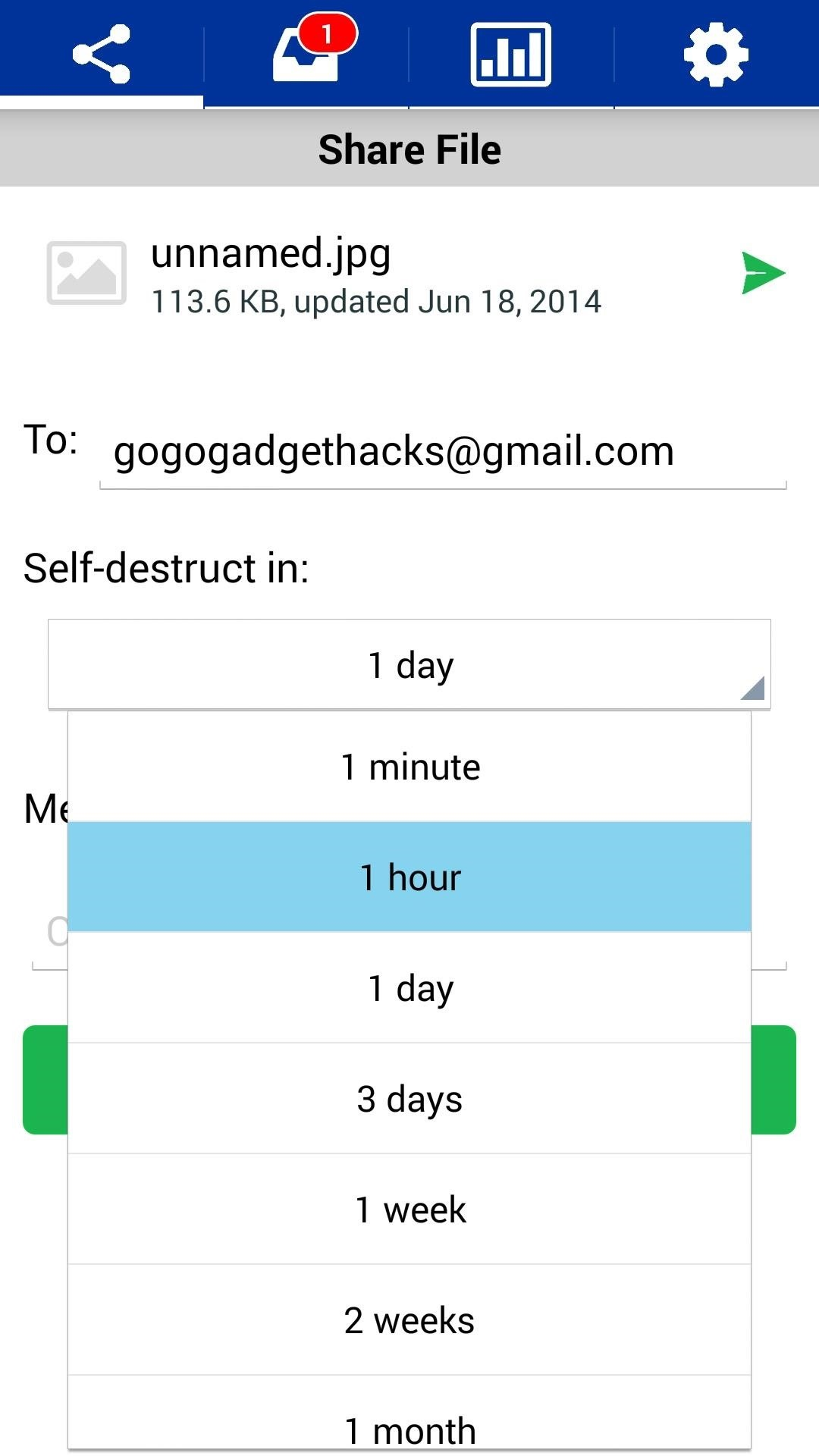 How to Send Photos, Videos, & Other Files That Automatically Self-Destruct on Android