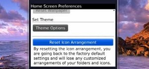 Reset the icon arrangement on your Blackberry