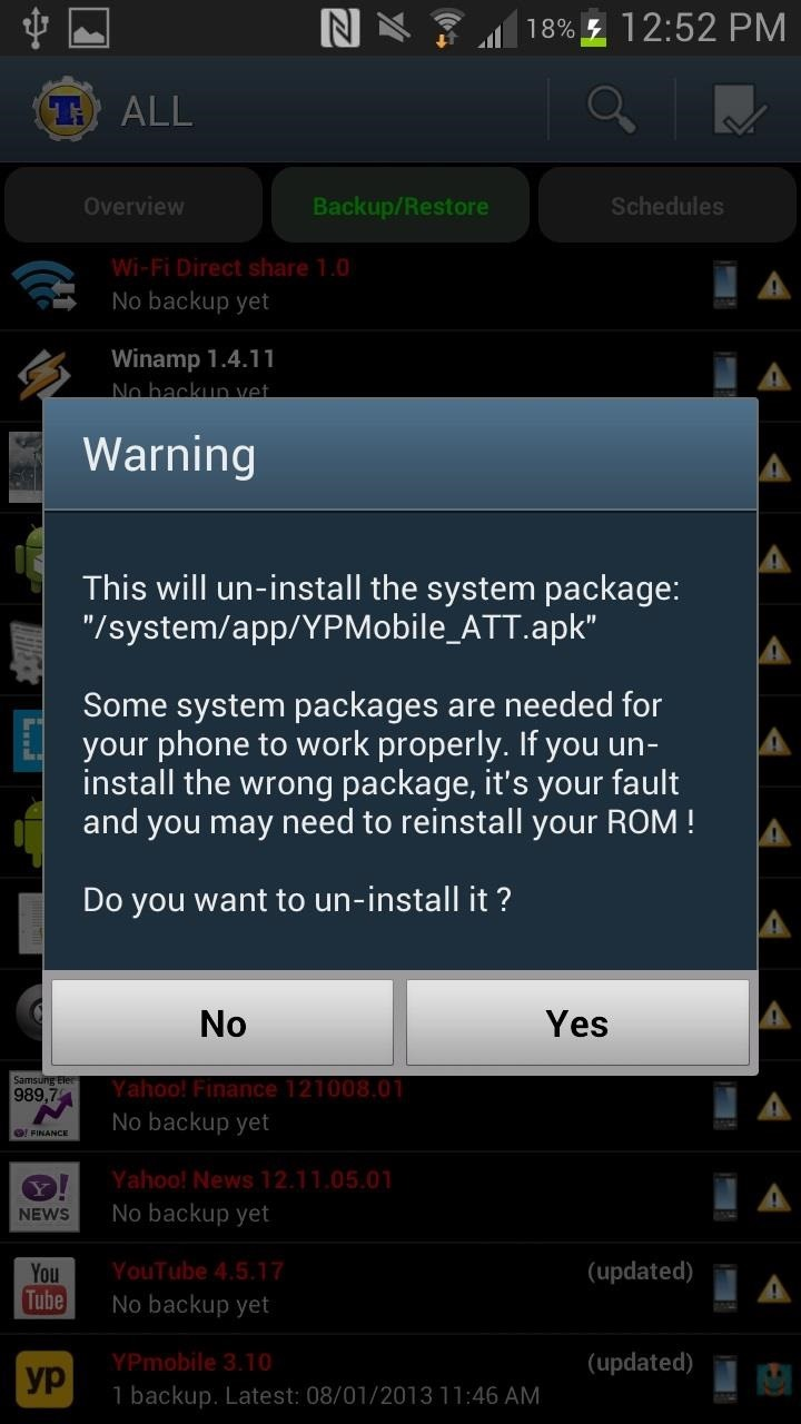 De-Bloating Your Samsung Galaxy Note 2: How to Delete Preloaded Android Apps for Good