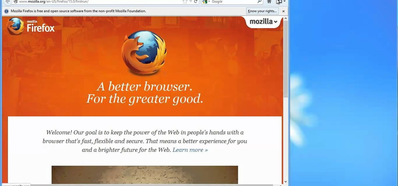 Install Firefox in Windows 8